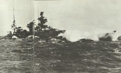 Scharnhorst in heavy seas