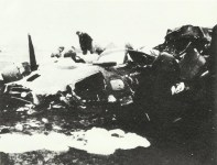 Pile of rubble of a downed B-17