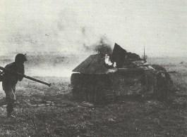 Hetzer tank destroyer killed by Bazooka