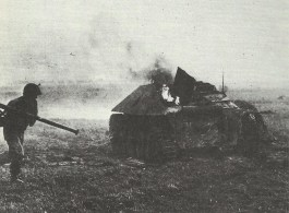 Hetzer tank destroyer killed by Bazooka