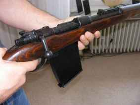 Mauser 98k with 20-round trench magazin.
