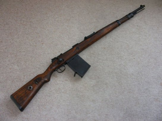 Mauser 98k with 20-round trench magazin
