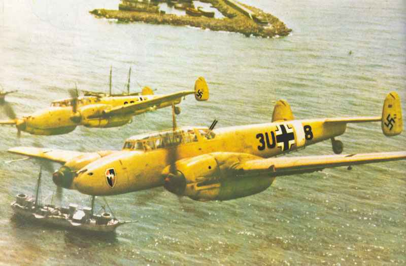 Two Bf 110 D-1 of ZG26