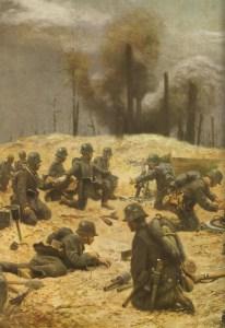 German trench mortar unit