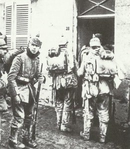 Group of German infantry