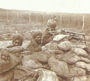 Indian Army machine-gun team