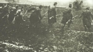Serb infantry attacking