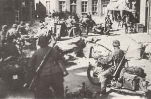 Motorcycle troops of 3 SS Totenkopf division