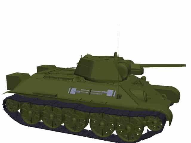 3D model T-34 Model 1942.