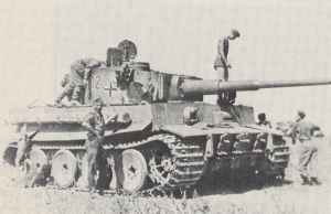 Tiger tank of the 7th Tank Division were prepared at Bjelgorod for Operation Citadel