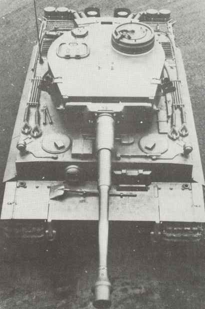 Front view of a new Tiger tank.