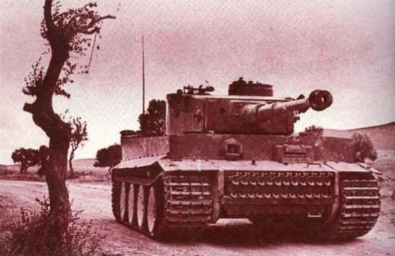 captured Tiger tank in Tunisia