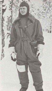 Finnish aircrewman in Winter War