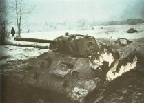 knocked-out T-34