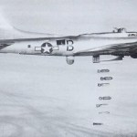 B-17G drops it bombs