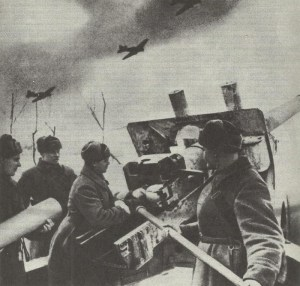 Russian artillery and planes
