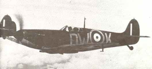 Spitfire from a fighter formation