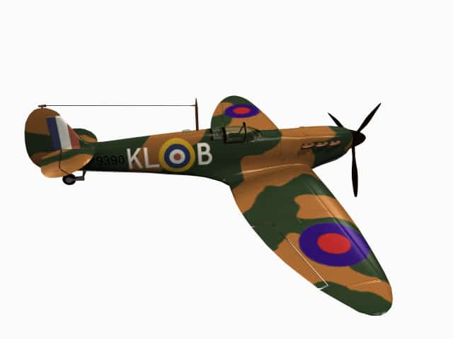 3d model Supermarine Spitfire Mk I A