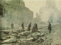 Burning bodies of Dresden victims