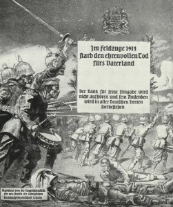 German obituary in 1914