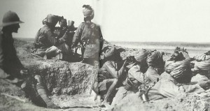 Indian troops defending Suez Canal
