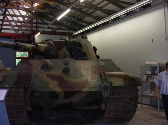 Front view King Tiger tank