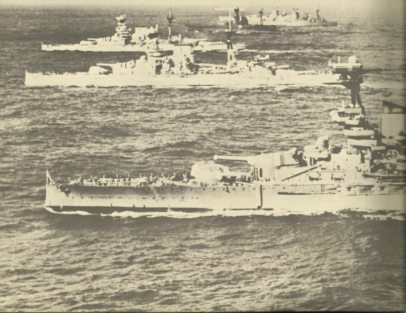 Six British battleships of the Home Fleet and the Mediterranean Fleet