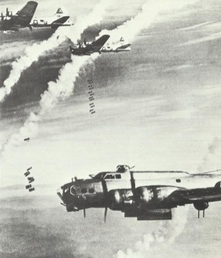 B-17 on attack on Berlin