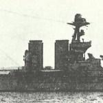 HMS Warspite in World War One.