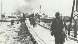 infantry guarding a bridge