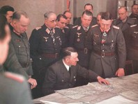 Hitler meets with the commanders of the 9th Army