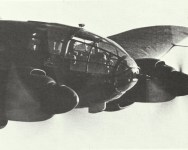 fully glazed nose section view of a He 111