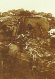 wrecked German machine-gun position