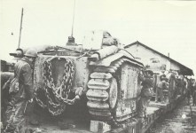 Char B1 loaded on train