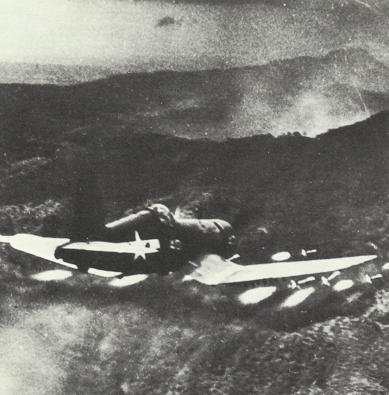 Corsair attacking positions
