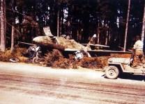 captured Me 262 fighter-bomber