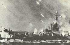 Ship fires rockets on Okinawa