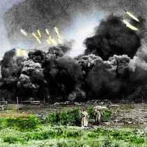 Katyusha's firing.