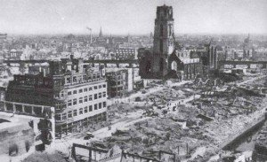 destroyed old town of Rotterdam