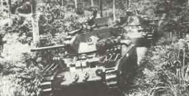 Australian Matilda Mk IVs patrolling the jungle