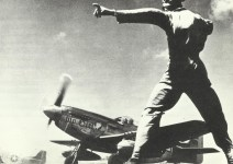 P-51 Mustang long-range fighters start from Iwo Jima