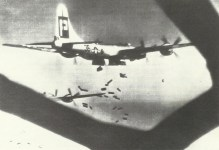 B-29 Superfortress showers incendiaries