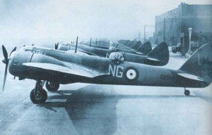 Bristol Blenheim Mk IF fighters