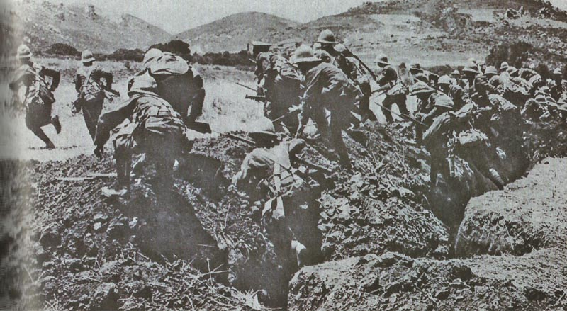 British attack at Gallipoli
