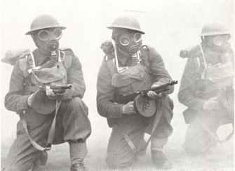 British troops in training, using original ThompsonM1928 submachine guns