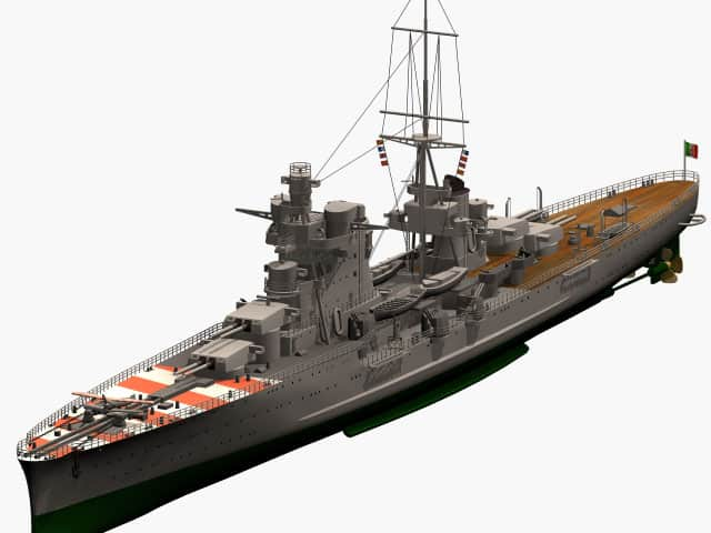 3d model of Italian heavy cruiser Pola of Zara class.