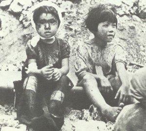Childs saved from Nagasaki inferno