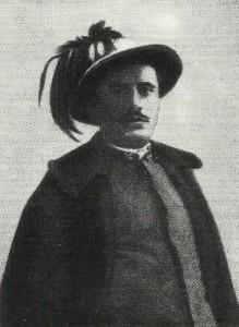 Mussolini as Bersaglieri
