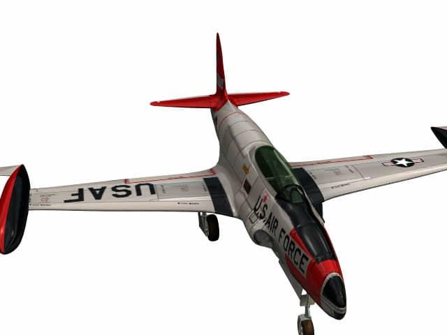 3d model Lockheed Shooting Star jet trainer T-33