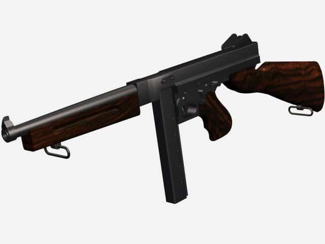 3d model of Thompson M1.